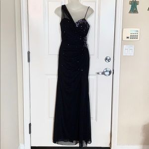 Midnight blue maxi dress